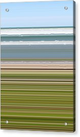 Sky Water Earth Grass Acrylic Print by Michelle Calkins