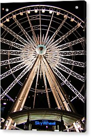 Sky Wheel Acrylic Print by Heather Weikel