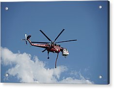 Skycrane Works The Red Canyon Fire Acrylic Print