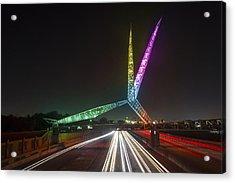 Skydance Bridge Okc Acrylic Print