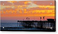 Skyfall At Pismo Beach Pier Acrylic Print