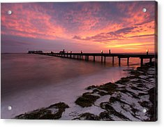 Acrylic Print featuring the photograph Skyfire - Anna Maria  by Patrick Downey