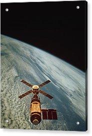 Skylab 1 Space Station In Orbit. Acrylic Print by Nasa