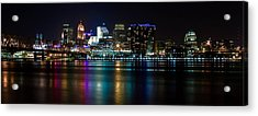 Skyline At Night Acrylic Print