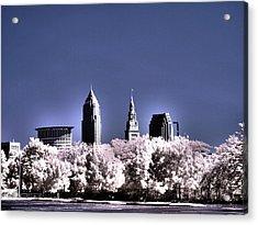 Skyline Cleveland, Ohio Acrylic Print by Bob LaForce