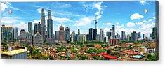 Skyline, Kuala Lumpur, Malaysia Acrylic Print by Nico Trinkhaus