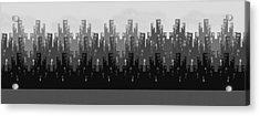 Skyline New York Acrylic Print by Digital Art Cafe