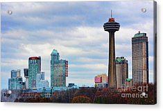 Acrylic Print featuring the photograph Skyline Niagara by Traci Cottingham
