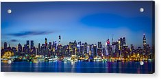 Skyline Nyc Before Sunrise Acrylic Print