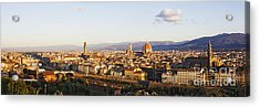 Skyline Of Florence From The Piazza Michelangelo At Dawn Acrylic Print by Jeremy Woodhouse