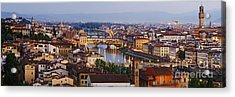 Skyline Of Historic Florence Acrylic Print by Jeremy Woodhouse