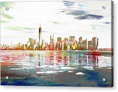 Skyline Of New York City, United States Acrylic Print