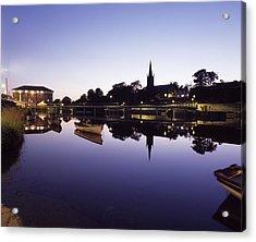 Skyline Over The R Garavogue, Sligo Acrylic Print by The Irish Image Collection