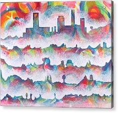 Skyline Acrylic Print by Rollin Kocsis