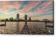 Acrylic Print featuring the photograph Skyline Sunset by Randy Scherkenbach