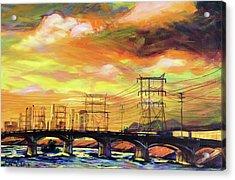 Skylines Acrylic Print by Bonnie Lambert