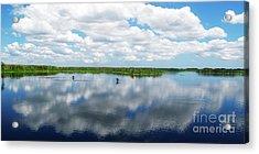 Skyscape Reflections Blue Cypress Marsh Conservation Area Near Vero Beach Florida C2 Acrylic Print