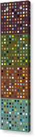 Skyscraper Abstract Ll Acrylic Print by Michelle Calkins