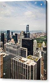 Skyscraper City Acrylic Print by Az Jackson
