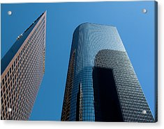 Acrylic Print featuring the photograph Skyscrapers Reflect Los Angeles by Lorraine Devon Wilke