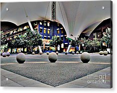 Skysong Asu Scottsdale Innovation Center Acrylic Print by Natalie Ortiz