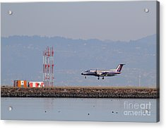 Skywest Airlines Jet Airplane At San Francisco International Airport Sfo . 7d12127 Acrylic Print