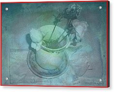 Skyworks 1 Rose Acrylic Print by Friedl Aigner