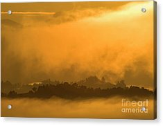 Acrylic Print featuring the photograph sland in the Mist - D009994 by Daniel Dempster