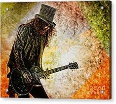 Slash - Guitarist Acrylic Print