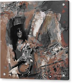 Slash Guns And Roses  Acrylic Print
