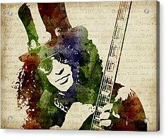 Slash Watercolor Acrylic Print by Mihaela Pater