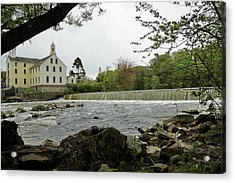 Slater Mill And Dam Acrylic Print