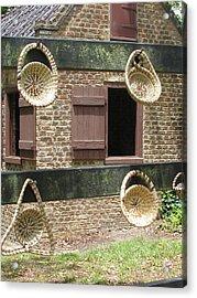 Slave Shack And Sweet Grass Baskets Acrylic Print by Staci-Jill Burnley