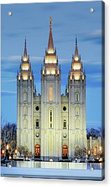 Slc Temple Blue Acrylic Print