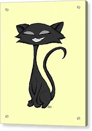 Sleek Cat Chuckling Acrylic Print