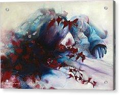 Sleep Acrylic Print by Barbara Agreste