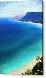 Sleeping Bear Dunes Barn Wood Acrylic Print by Dan Sproul