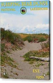 Sleeping Bear Dunes National Lakeshore Poster Acrylic Print