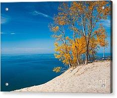 Sleeping Bear Dunes Vista 002 Acrylic Print by Larry Carr