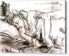 Acrylic Print featuring the painting Sleeping Boy by Debora Cardaci