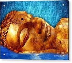 Sleeping Buddha Acrylic Print by Khalil Houri