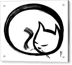 Sleeping Cat Acrylic Print by Poul Costinsky