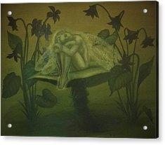 Sleeping Fairy Acrylic Print