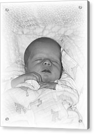 Sleeping Girl Acrylic Print