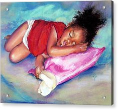 Sleeping On A Cloud Acrylic Print