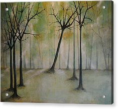 Sleeping Trees Acrylic Print by Tamara Bettencourt