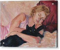 Sleeping With Fur Acrylic Print