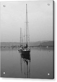 Sleeping Yacht Acrylic Print by Arthur Sa