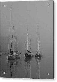 Sleeping Yachts  Acrylic Print by Arthur Sa