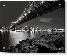 Sleepless Nights And City Lights Acrylic Print by Evelina Kremsdorf